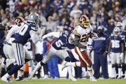 Adrian Peterson #26 of the Washington Redskins runs the ball in the fourth quarter of the game against the Dallas Cowboys at FedExField on October 21, 2018 in Landover, Maryland. The Redskins won 20-17.