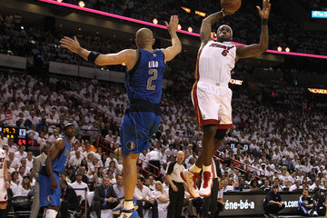 LeBron James Jason Kidd Dallas Mavericks v Miami Heat - Game Two