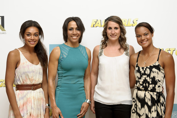 Screening of Fast Girls Hosted by Dame Kelly Holmes [fashion,event,youth,fashion design,fun,dress,team,smile,dame kelly holmes,fast girls,guests,members,adelle tracey,l-r,program,womens sports and fitness foundation,screening,screening]