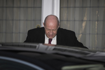 Damian Green Britain's First Secretary of State Damian Green Leaves His Home in London