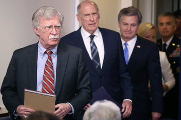 Dan Coats Top National Security Officials Join Sarah Sanders At White House Press Briefing