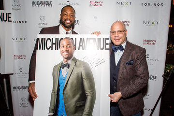 Dan Uslan Michigan Avenue Magazine Celebrates Its Winter Issue With Dwyane Wade at Siena Tavern