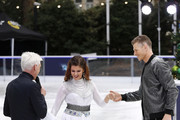 Phillip Schofield, Saara Aalto and Hamish Gaman during a photocall for the new series of Dancing On Ice at the Natural History Museum Ice Rink on December 18, 2018 in London, England.