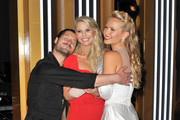 "(L-R) Valentin Chmerkovskiy, Christie Brinkley and Sailor Lee Brinkley-Cook attend the ""Dancing With The Stars"" Season 28 show at CBS Televison City on September 16, 2019 in Los Angeles, California."