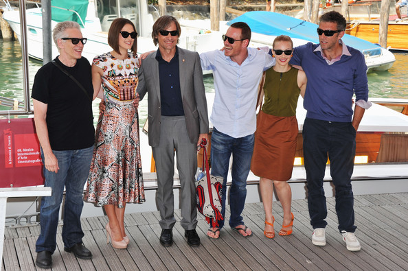 "(L-R) Director David Cronenberg, with actors  Keira Knightley, Viggo Mortensen, Michael Fassbender, Sarah Gadon and Vincent Cassel arrive at the ""A Dangerous Method"" photocall at the Palazzo del Cinema during the 68th Venice Film Festival on September 2, 2011 in Venice, Italy."