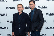 Actor Daniel Craig and Department of Film Chief Curator Rajendra Roy attend The Museum of Modern Art's Screening of Casino Royale at MOMA on March 03, 2020 in New York City.