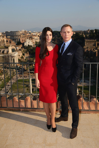 'SPECTRE' Photocall On Location In Rome, Italy [photocall on location,james bond,red,suit,formal wear,fashion,tourism,leg,tuxedo,event,dress,vacation,metro-goldwyn-mayer,spectre,italy,rome,eon productions,sony pictures entertainment,filming,adventure]