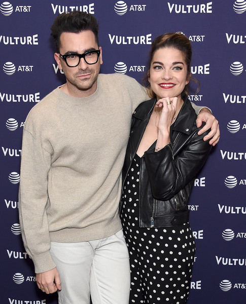 Vulture Festival Los Angeles 2018 [eyewear,glasses,vision care,event,premiere,sunglasses,daniel levy,annie murphy,los angeles,california,the hollywood roosevelt hotel,vulture festival]