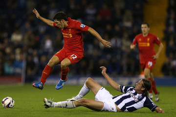 Daniel Pacheco West Bromwich Albion v Liverpool - Capital One Cup Third Round