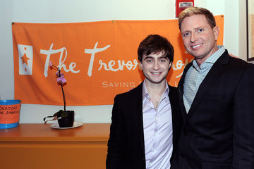 Charles Robbins Daniel Radcliffe Visits The Trevor Project's NYC Call Center