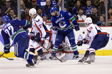 Daniel Sedin Ryan Kesler Washington Capitals v Vancouver Canucks