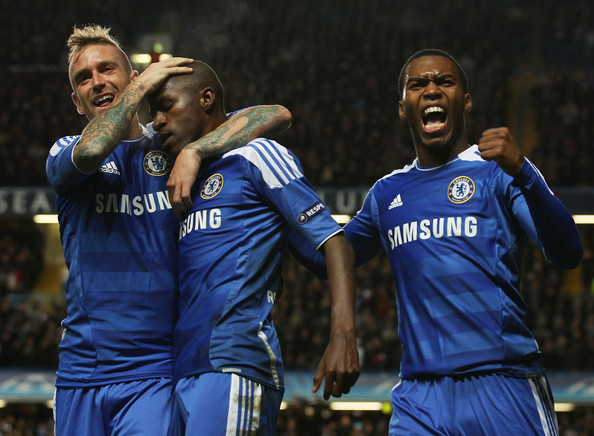 chelsea's meireles, ramires and sturridge