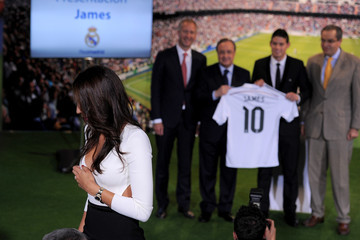 Daniela Ospina James Rodriguez Officially Unveiled at Real Madrid