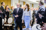 The Crown Princess Mary of Denmark arrives for a panel discussion on the programme of the fight with diabetes at Bristol Hotel November 25, 2019 in Warsaw, Poland. The Danish Crown Prince and his wife are on an official visit to Poland on the occasion of the centenary of the resumption of diplomatic relations between Denmark and Poland.