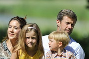 (L-R) Crownprincess Mary, Princess Isabella, Prince Vincent and Crownprince Frederik attend the annual summer photo call for the Royal Danish family at Grasten Castle on July 24, 2014 in Grasten, Denmark.