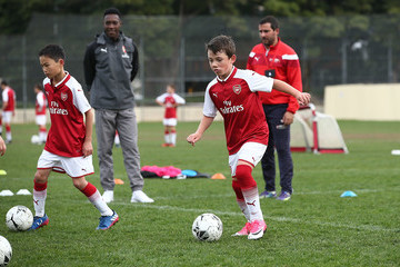 Danny Welbeck Emirates Kids Clinic with Arsenal FC