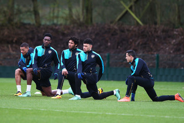 Danny Welbeck Alex Oxlade-Chamberlain Arsenal FC Training Session & Press Conference