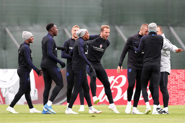 Danny Welbeck Harry Kane England Media Access - 2018 FIFA World Cup Russia
