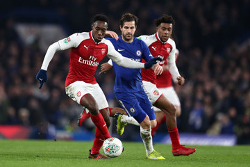 Danny Welbeck Chelsea v Arsenal - Carabao Cup Semi-Final: First Leg