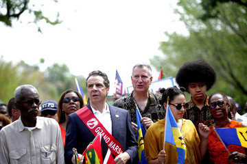 Dante de Blasio Annual West Indian Day Parade Held in Brooklyn