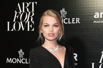 Daphne Groeneveld Remo Ruffini, Moncler Chairman And Kevin Robert Frost, amFAR CEO Host Private Viewing And Dinner For Art For Love: 32 Photographers Interpret The Iconic Moncler Maya Jacket