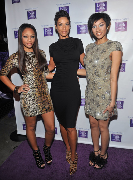 Shayne Murphy, model Nicole Murphy and model Bria Murphy attend the