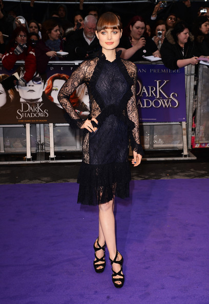 """Actress Bella Heathcote attends the UK premiere of """"Dark Shadows"""" at Empire Leicester Square on May 9, 2012 in London, England."""