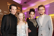 (L-R) Sabin Tambrea, Susanne Wuest, Ruby O. Fee and Steve Windolf attend the Premiere of  'Das Geheimnis der Hebamme' at Gloria Palast on March 16, 2016 in Munich, Germany.