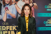 """Nadine Warmuth attends the premiere of """"Das perfekte Geheimnis"""" on October 28, 2019 in Berlin, Germany."""