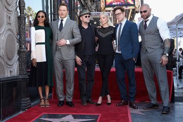 Dave Bautista Chris Pratt Honored With Star On The Hollywood Walk Of Fame