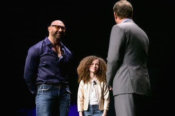 Dave Bautista Chloe Coleman CinemaCon 2019 - The State Of The Industry: Past, Present And Future And STXfilms Presentation