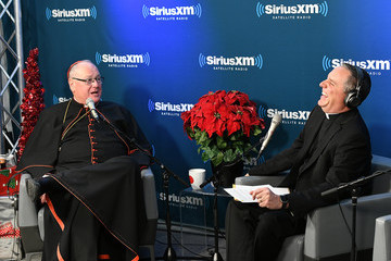 Dave Dwyer Cardinal Timothy Dolan Visits SiriusXM for SiriusXM's Christmas Special