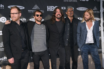 Dave Grohl Nate Mendel 30th Annual Rock And Roll Hall Of Fame Induction Ceremony - Arrivals