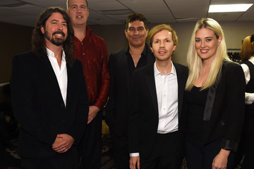 Dave Grohl Pat Smear 2016 Pre-GRAMMY Gala And Salute to Industry Icons Honoring Irving Azoff - Backstage And Audience