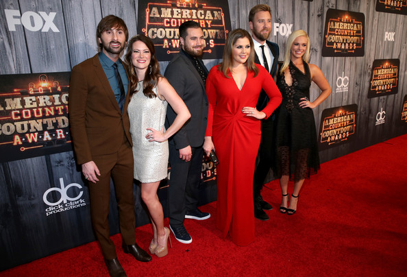 Arrivals at the American Country Countdown Awards — Part 2 [red carpet,carpet,premiere,event,flooring,dress,little black dress,american country countdown awards,l-r,lady antebellum,arrivals,dave haywood,chris tyrrell,singers,charles kelley,hillary scott,kelli cashiola]