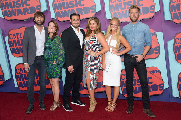 Arrivals at the CMT Music Awards [event,carpet,red carpet,premiere,youth,flooring,performance,award,art,cmt music awards,l-r,lady antebellum,arrivals,dave haywood,charles kelley,hillary scott,cassie mcconnell,kelli cashiola,chris tyrrell]