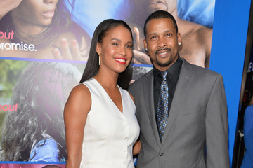 Joy Bryant with cool, Husband Dave Pope
