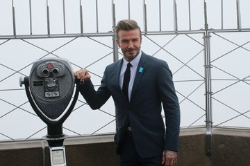 David Beckham David Beckham Lights the Empire State Building Blue in Honor of UNICEF's 70th Anniversary