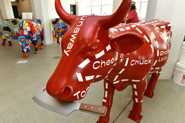 David Burtka CowParade Launch Event Benefiting God's Love We Deliver