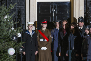 David Cameron Christmas Tree Delivered to Downing Street