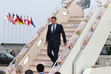 David Cameron G7 Leaders Arrive In Japan For Summit