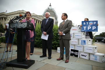 David Cicilline Congressional Democrats Hold News Conference Opposing Fast-Tracking the Trans-Pacific Partnership