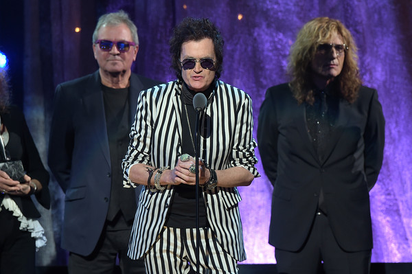 31st Annual Rock and Roll Hall of Fame Induction Ceremony - Show [event,performance,performing arts,music artist,musician,stage,david coverdale,glenn hughes,ian gillian,stage,l-r,barclays center,new york city,deep purple,rock and roll hall of fame induction ceremony - show]