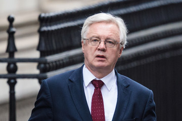 David Davis Government Ministers Attend Weekly Cabinet Meeting