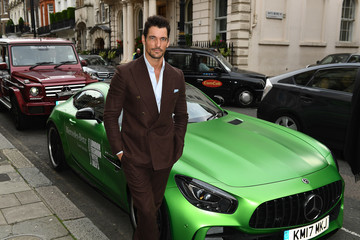 David Gandy Mercedes-Benz Is Official Car Partner to London Fashion Week Men's 5th Anniversary Party