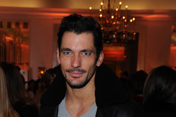 David Gandy Front Row & Arrivals: Day 4 - LFW February 2017