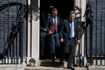 David Gauke UK Government Ministers Attend First Cabinet After Re-shuffle