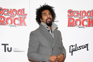 David Haye Opening Night Of 'School Of Rock The Musical' - Red Carpet Arrivals