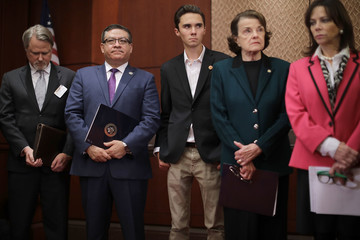 David Hogg Salud Carbajal Lawmakers Discuss Brady Campaign To Prevent Gun Violence's Plan For Increased Gun Safety Laws
