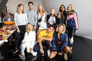 Back row; (L to R) Kate Waterhouse, Cameron Robbie, Izi Simundic, Nadia Fairfax, Vidya Rishi and Michelle Halford Front row; (L to R) Sarah Ellen, Josh Heuston and Yan Yan Chan pose for photos during The Art of Wellness event during the David Jones AW19 Season Launch at The Museum of Old and New Art (MONA) on February 06, 2019 in Hobart, Australia.